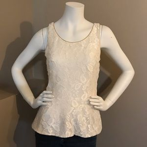 Express Ivory Lace Tank Size Medium